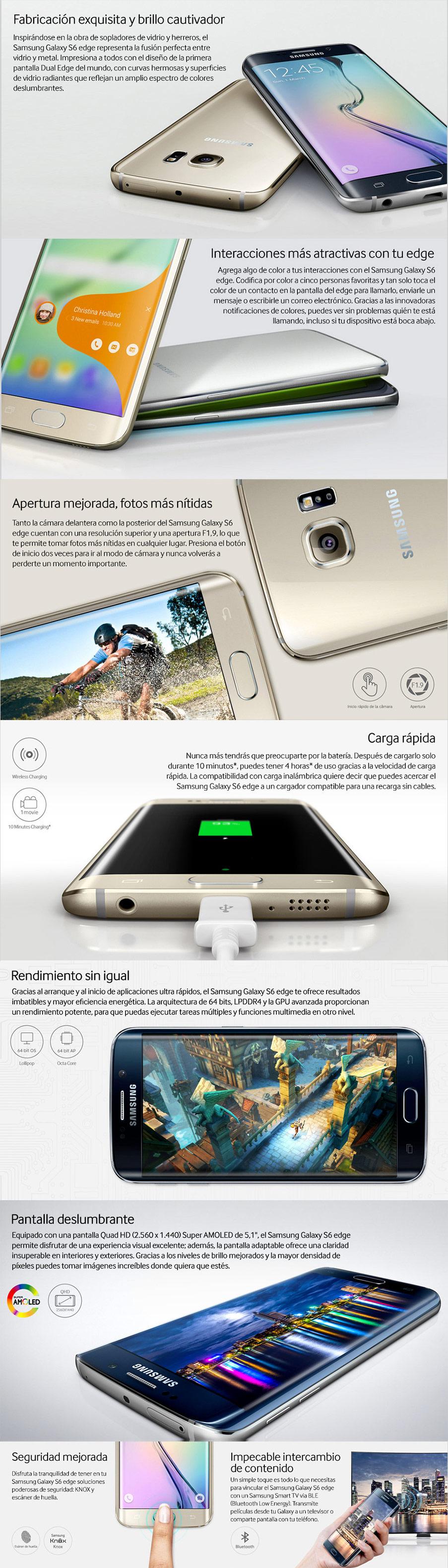 Características Samsung Galaxy S6 Edge