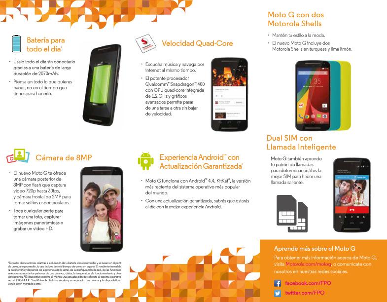 Nuevo Moto g brochure