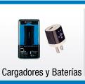 menu cargadores y baterías para celulares