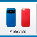 menu de protección y potabilidad para celulares