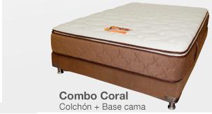KOMBO Colchón ROMANCE RELAX Coral + Base cama