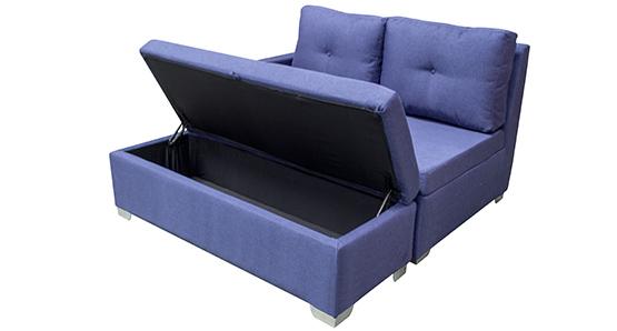 Sof esquinero puff ba l espumados anka nova azul for Sofa esquinero precio