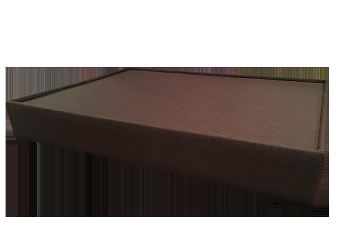 Base cama doble 144 x 194 x 32 cm tukasa tela borde triada for Base para cama queen size minimalista