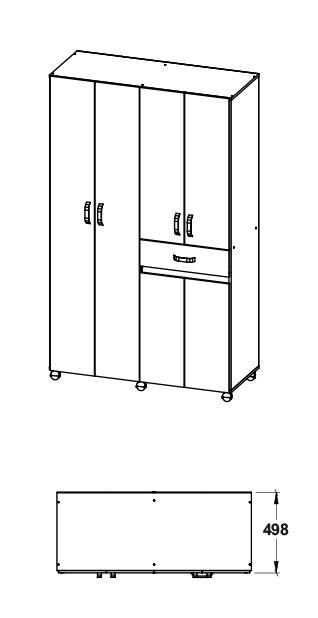Armario 120 cm maderkit nova 120 wengue alkosto tienda online for Armario 120 ancho