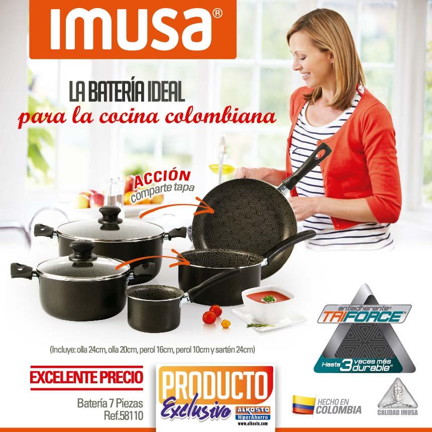 Juego de ollas imusa triforce 7 piezas ins alk alkosto for Articulos cocina online
