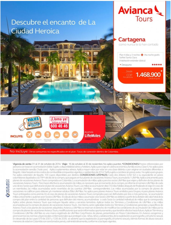 Viaje a Cartagena en octubre con viajes alkosto
