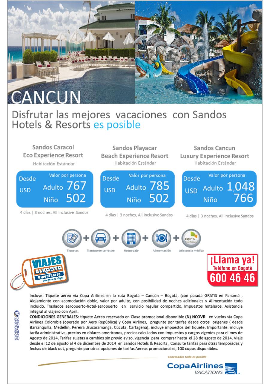 viaje Cancun Agosto con viajes alkosto