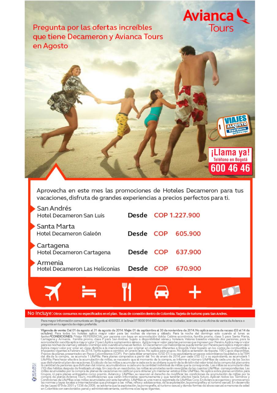 Viaje con ofertas Decameron con viajes Alkosto