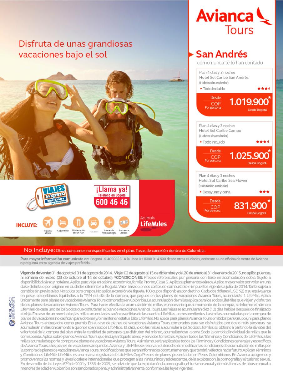 Viaje San Andrés - Agosto con viajes alkosto