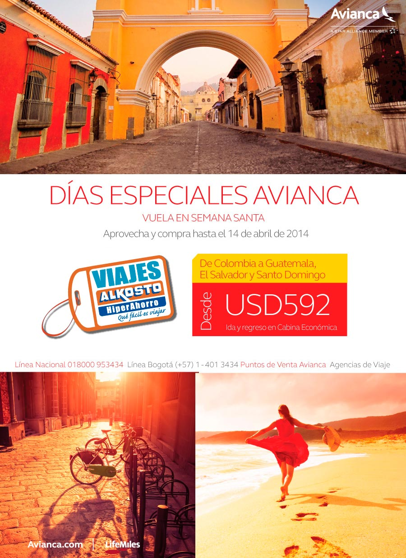 Viajes Colombia El Salvador Santo Domingo