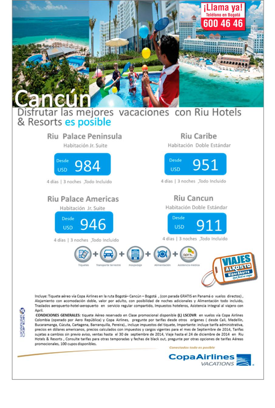 Viaje Cancún Septiembre con viajes alkosto