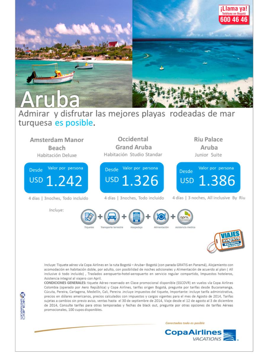 Viaje Aruba con viajes alkosto