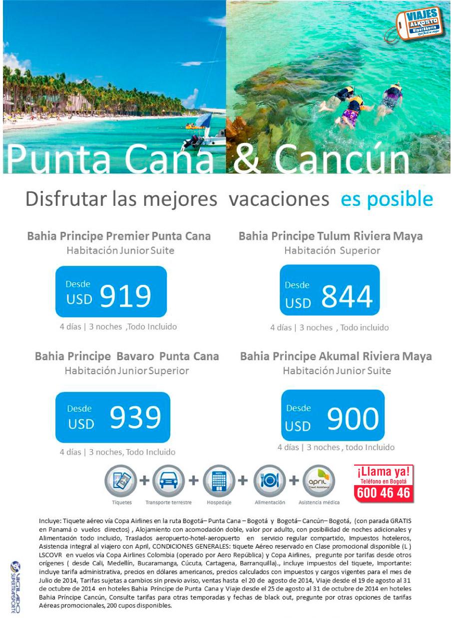 Viaje Punta Cana y Cancun con viajes alkosto