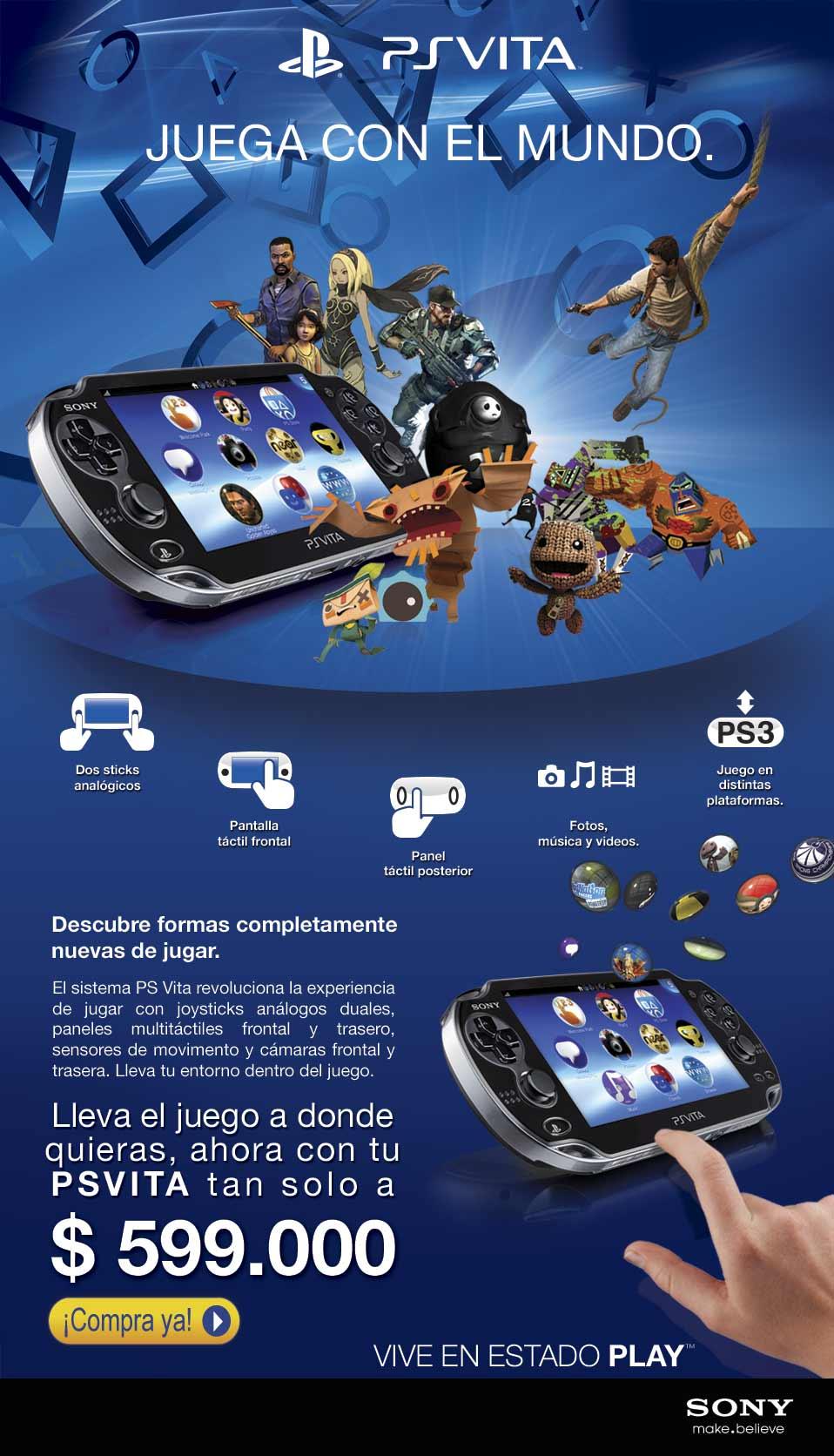 Compra Ya! PS Vita a un Súper precio