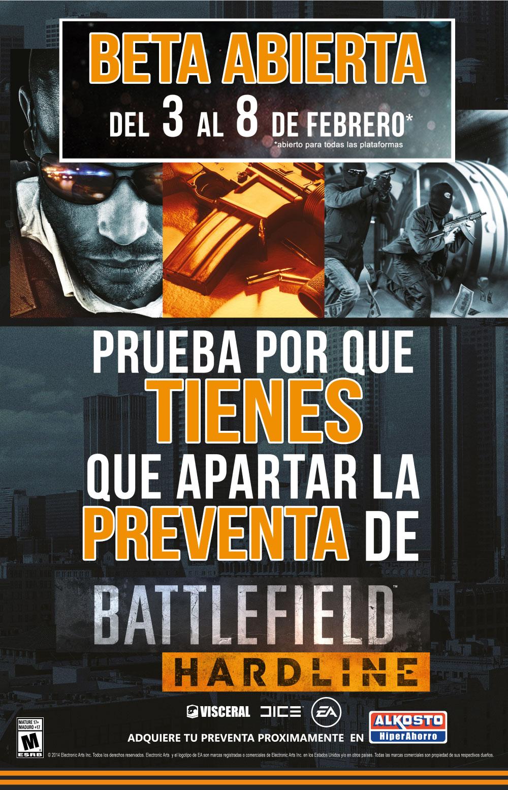 Descarga la Beta de Battlefield Hardline