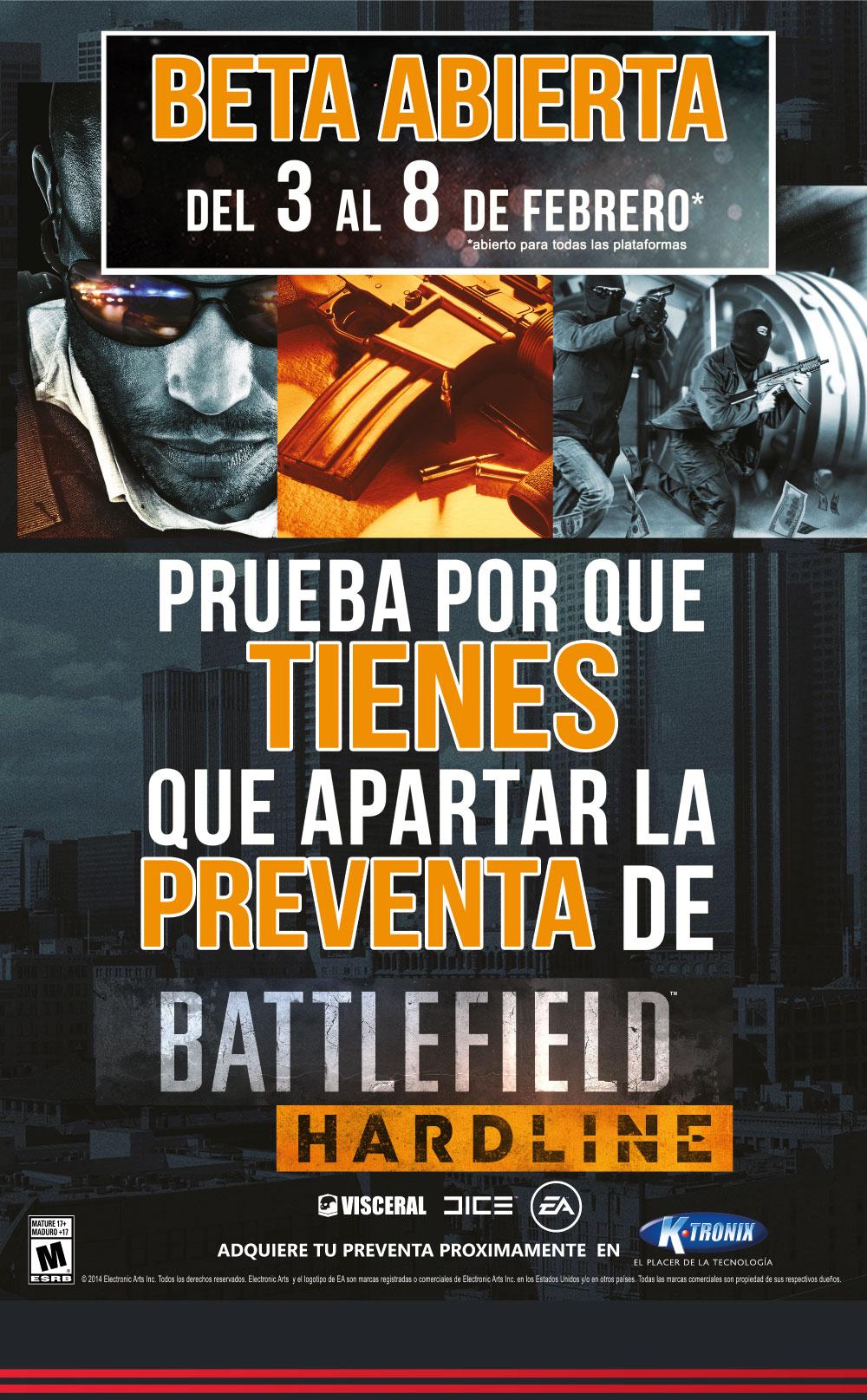 Battlefield Hardline Descarga la Beta