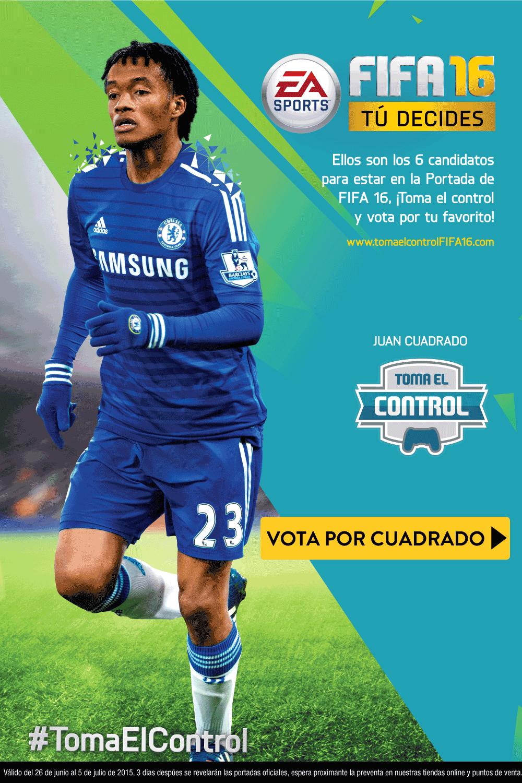 FIFA 16 elige la portada del juego