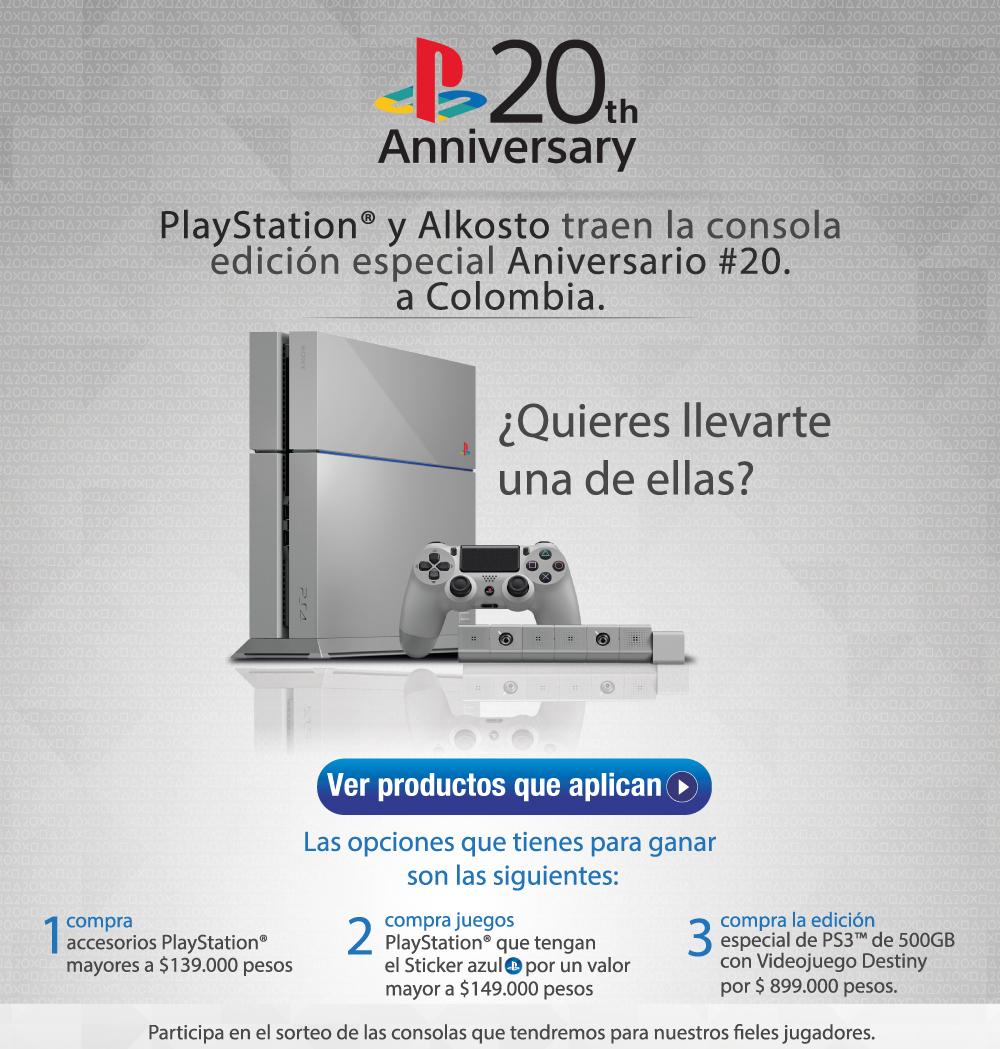Rifa edicion especial PS4 Alkosto