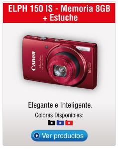 ELPH 150 IS - Memoria 8GB  + Estuche