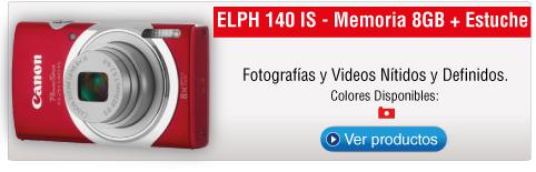 ELPH 140 IS - Memoria 8GB + Estuche