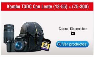 Kombo T3DC Con Lente (18-55) + (75-300)