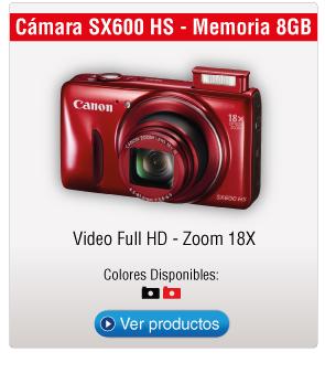 Cámara SX600 HS - Memoria 8GB