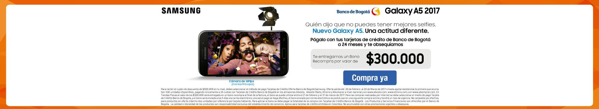 Pauta SAMSUNG - CAT - Lanzamiento Samsung A5 con Banco de Bogotá - Febrero 20