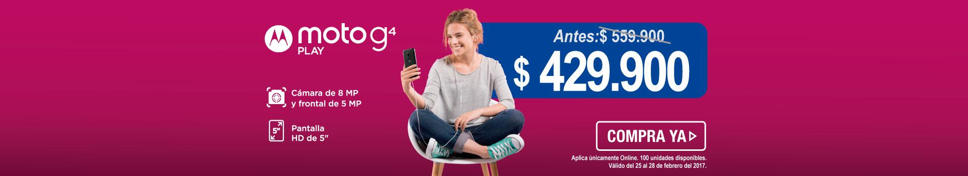 Celular 4G MOTOROLA Moto G4 Play DS - banner opcional