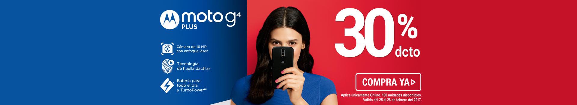 Celular Motorola Moto G4 Plus DS - banner principal