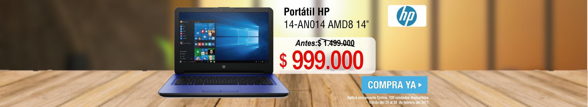 Portátil HP 14-AN014 AMD8 14 azul - banner principal