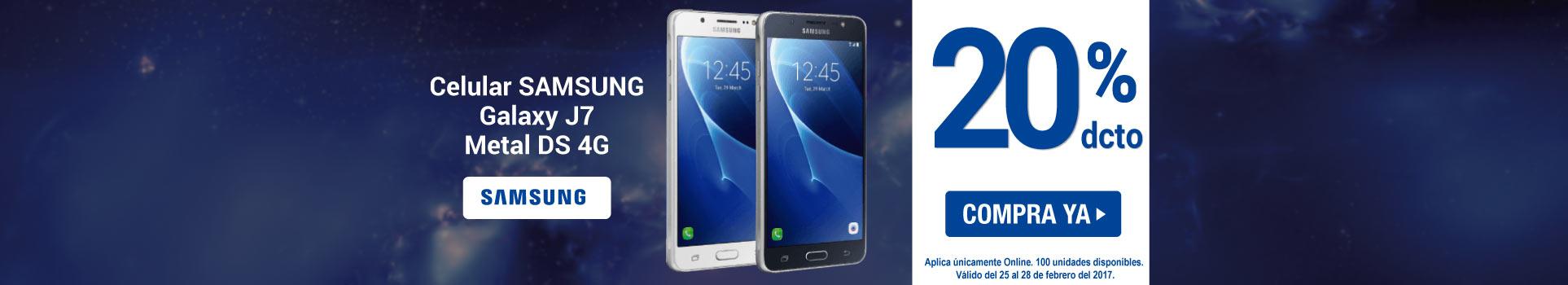Celular SAMSUNG Galaxy J7 Metal DS - banner principal