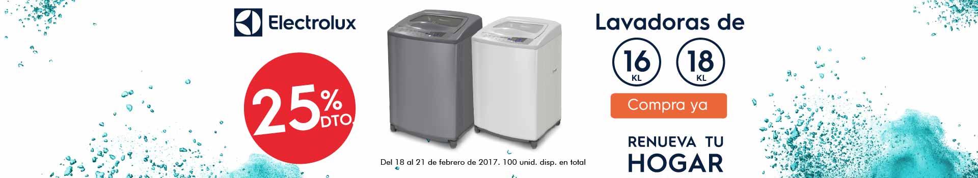 HIPER ELEC - feb 18 - 20%Dto en lavadoras 16k y 18k ELECTROLUX