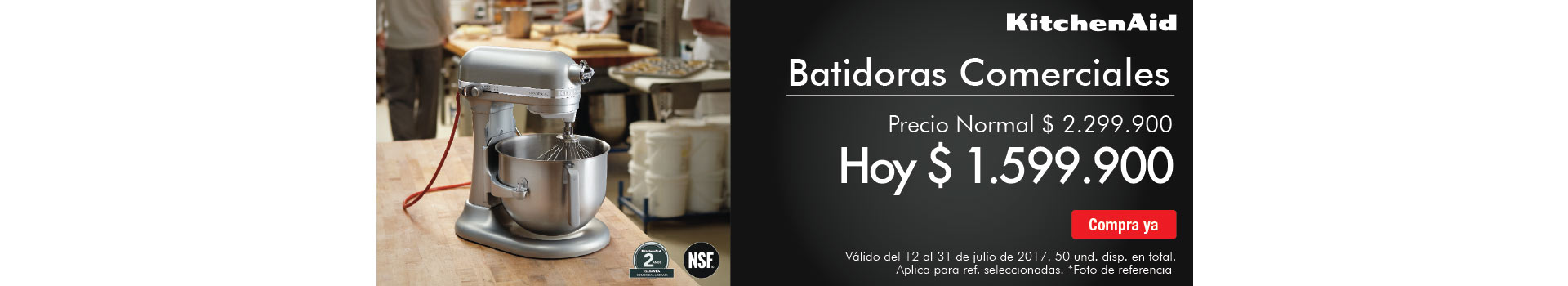 CAT PREP - 25%dto en Batidoras KITCHENAID - jul12