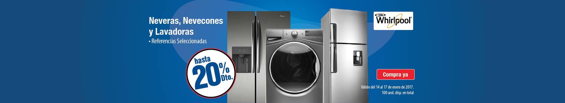 CAT REFRIGERACION enero 14 - Hasta 20%Dto Lavado y Refrigeración WHIRLPOOL Ref. Seleccionadas