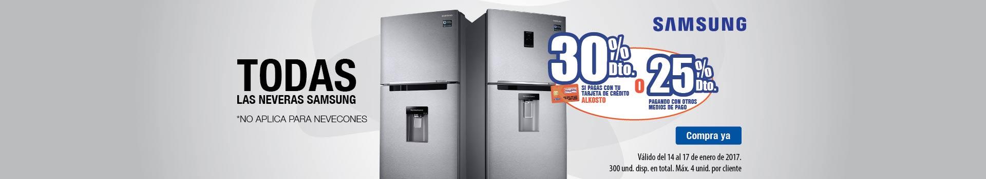 CAT refrigeracion - enero 14 - 30%Dto con TCA en TODAS las neveras SAMSUNG no aplica nevecones