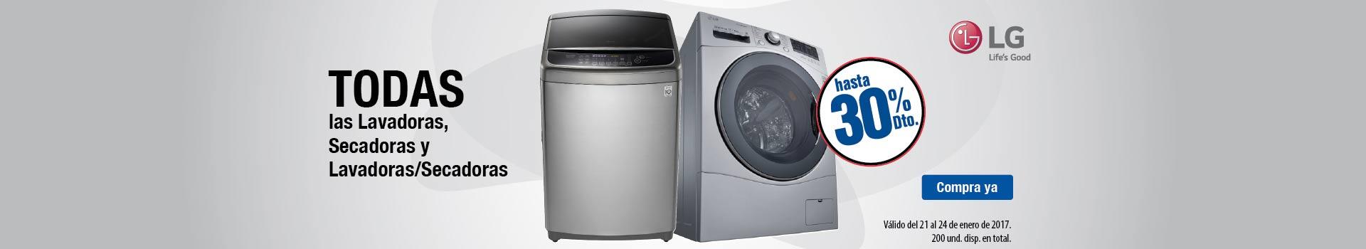 CAT ELECT - enero 21 - Hasta 30%Dto en TODO lavado LG