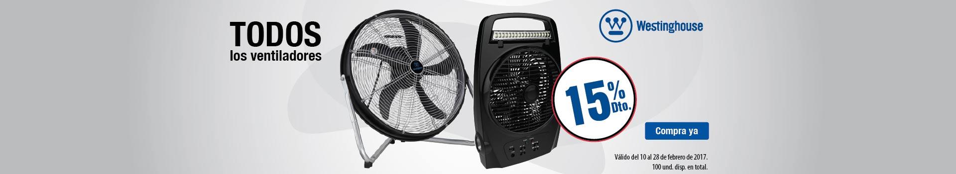CAT CLIMA - feb 10 - 15%Dto ventiladores WESTINGHOUSE