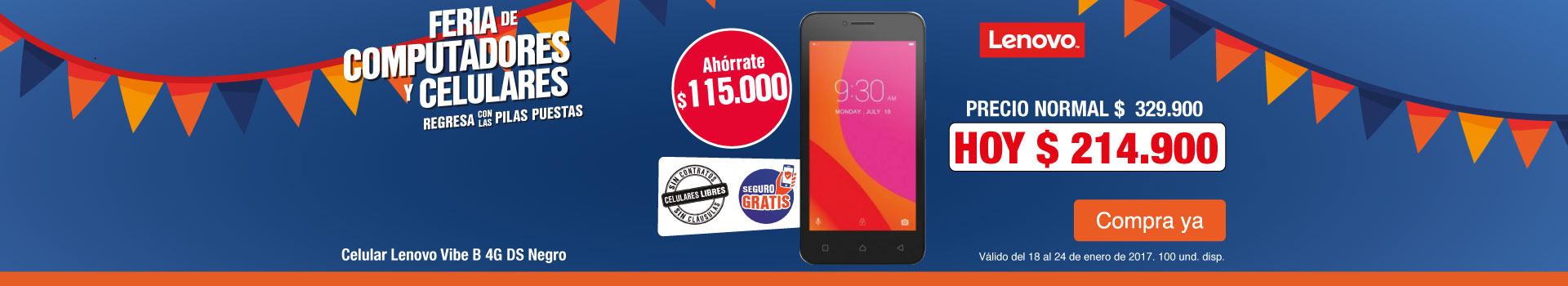 HIPER AK - Ahorra $115.000 en Celular LENOVO Vibe B - Ene24