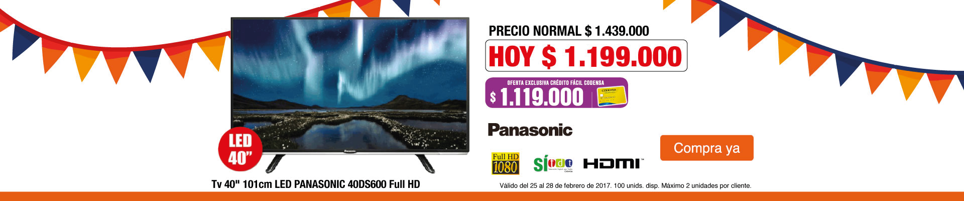 PPAL AK- TV PANA 40DS600 - FEB 25