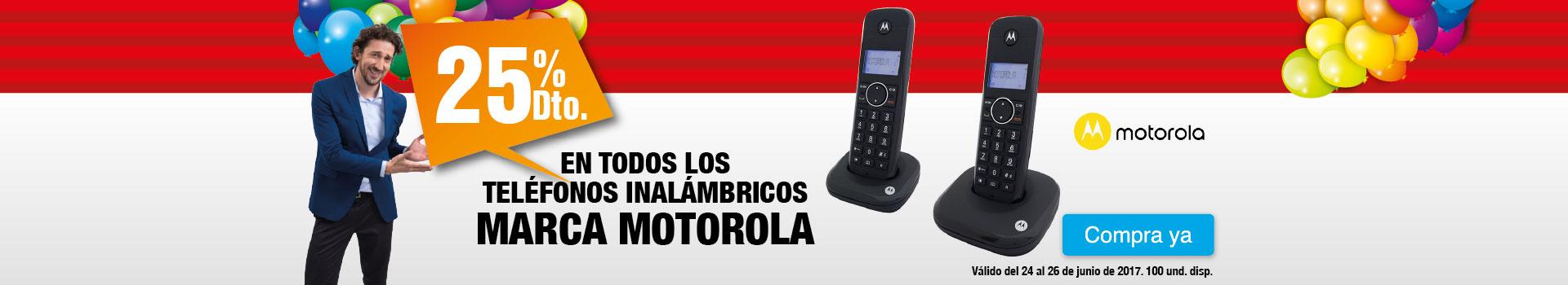 Cat AK - 25 dto en telefonos inalambricos MOTOROLA - Jun24