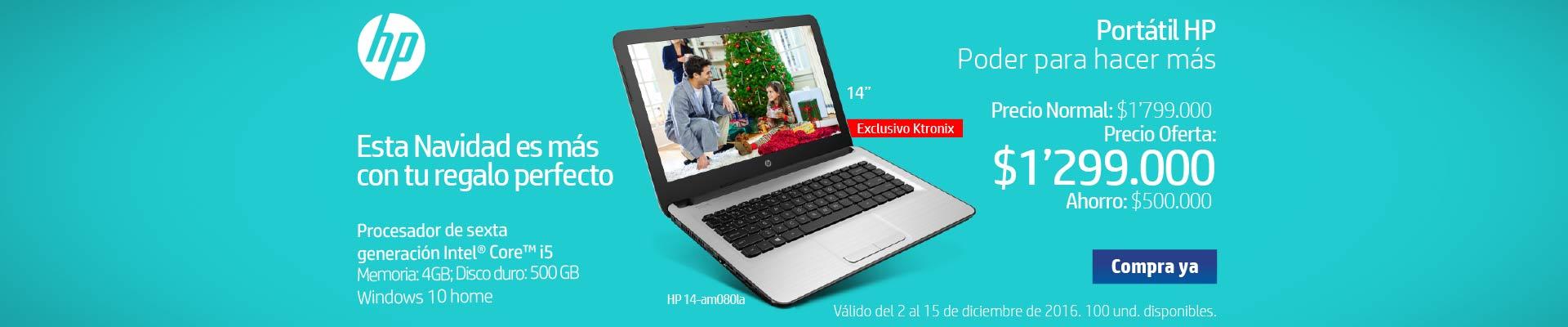 Pauta HP - Principal Home Ktronix - diciembre 3 - Portátil HP AM080 Core i5 14