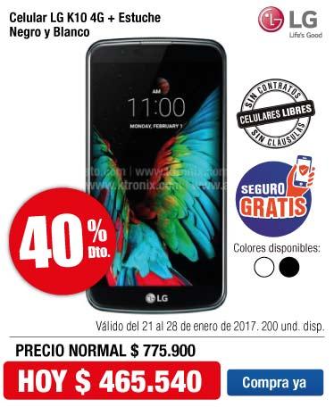 OFER KT - 40% dto en Celular LG K10 - Ene24