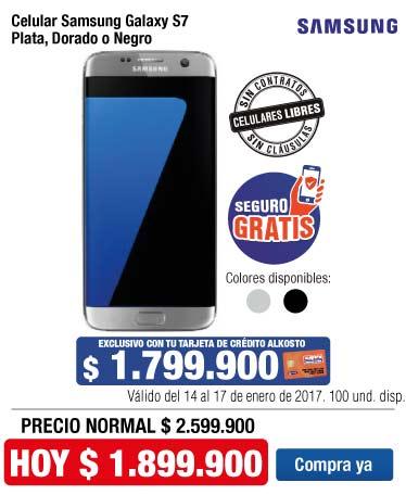 OFER KT - Celular Samsung Galaxy S7 con TCA - Ene14