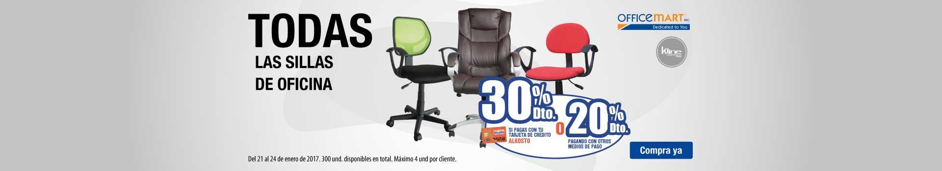 AKB OPC- 30% dto TCA 20% CMP en sillas de oficina - ene21