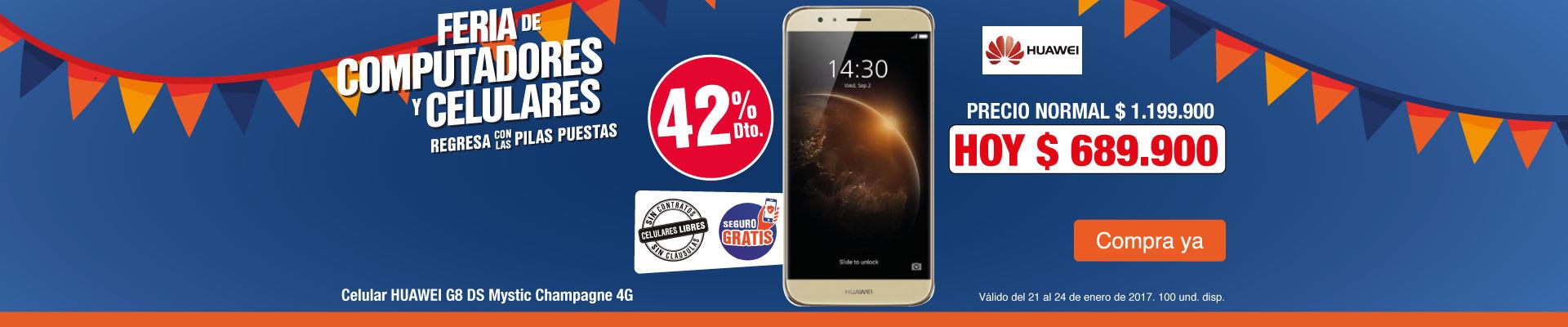 PPAL AK - 42% dto en Huawei G8 Champagne - Ene24
