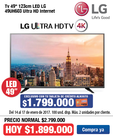 OFER KT TV LG 49uh603 Enero 14