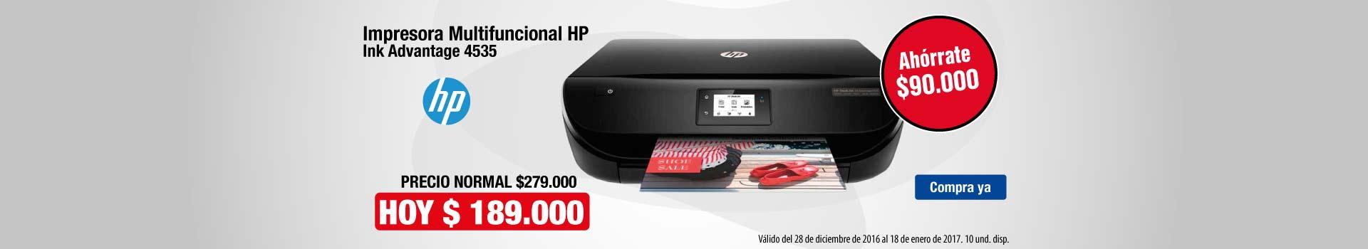 CAT AK y KT - Impresora Multifuncional HP Ink Advantage 4535 - Ene 4