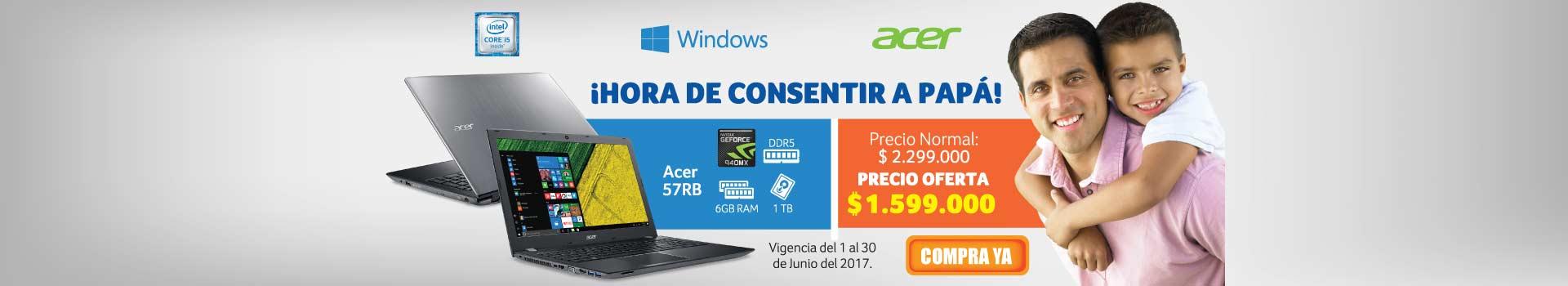 Pauta Acer - CAT AK y KT - Portátil ACER 57RB Ci5 P 15.6