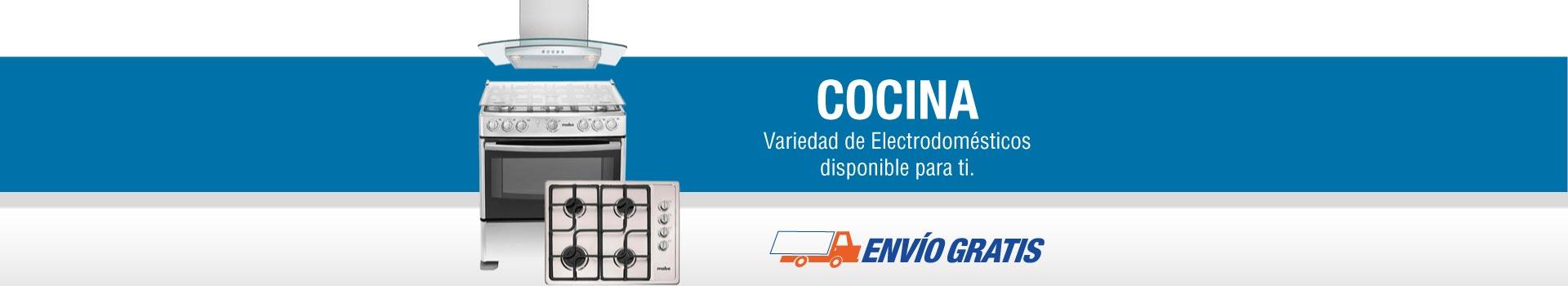 Cocina: variedad de electrodomésticos disponibles para ti.