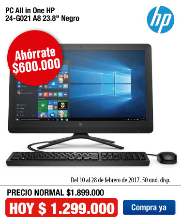 OFER KT - PC All in One HP 24-G021 A8 23.8
